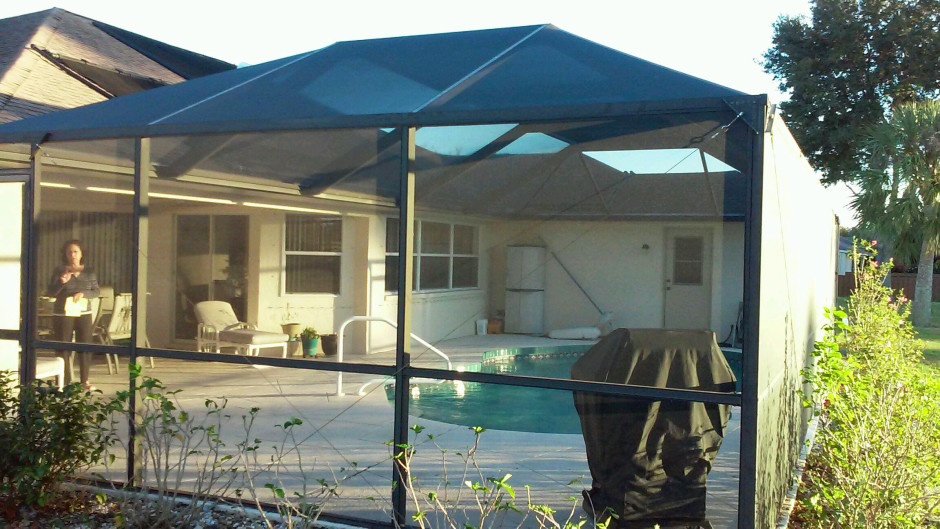 North Port Aluminum Pool Cage Screen Enclosure Front